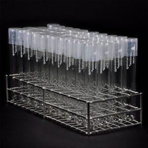 tubo de vidrio in vitro